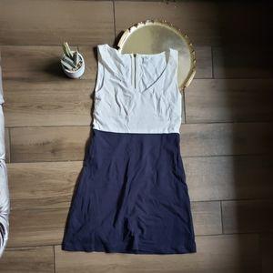 J crew white navy mini dress colorblock 6